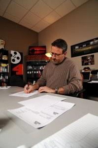 Dave at Desk